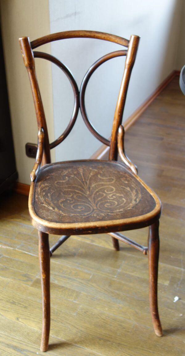 Historischer Stuhl 19. Jh. bis Anfang 20. Jh. , restaurierun gsbedürftig .