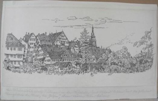 """Stadtansicht Tübingen"""