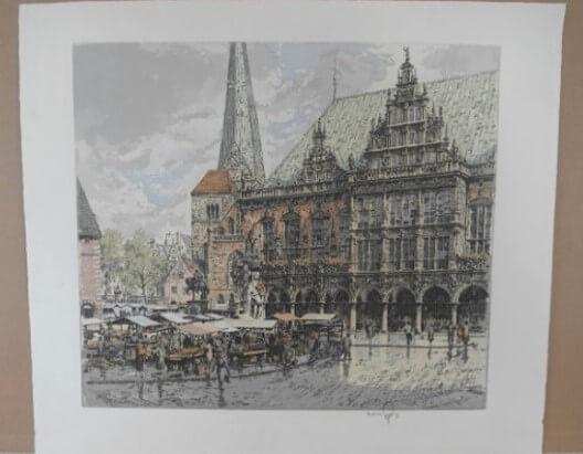 """Bremer Rathaus mit Markt"""""""