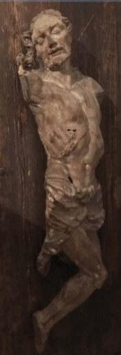 Christus Darstellung als Kruzifix ohne Arme daher Fragment