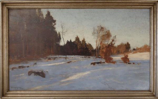 "Winterlandschaft"" E. Harrison Compton"
