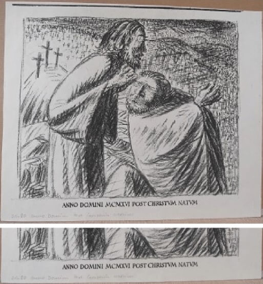 """Barlach Ernst, """"Gräber 1016"""" 1916"""