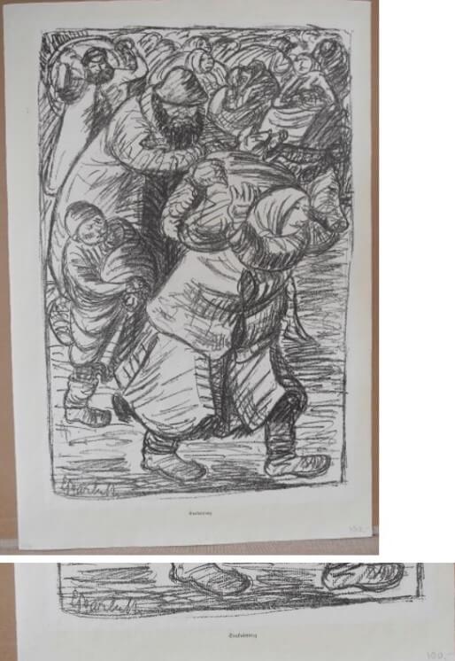"""Barlach Ernst, """"Evakuierung"""" 1915"""