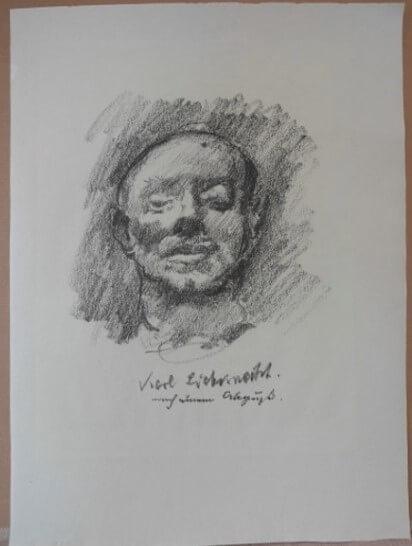 """Corinth Lovis, """" Totenmaske Karl Liebknecht"""" 1919"""