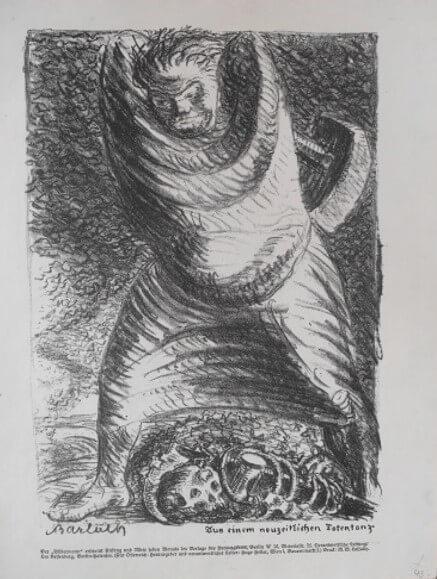 """Barlach Ernst, """"Aus einem neuzeitlichen Totentanz"""" 1916"""