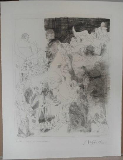 """Hrdlicka Alfred, """"Marter der 10 000 Christen"""" 1970"""