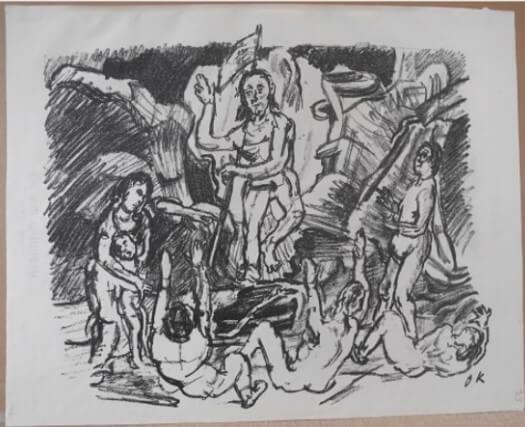 """Kokoschka Oskar , """"Auferstehung"""" 1916"""