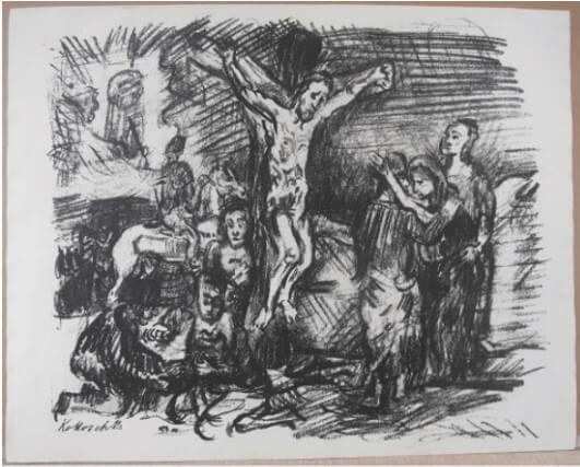 "Kokoschka Oskar, "" Christus am Kreuz"" 191"