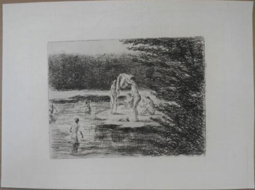 """16. Liebermann Max, """"Badende Knaben """" 1896"""