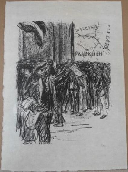 "Liebermann Max, "" Extra! Extra! ( Extrablatt ) "" 191"