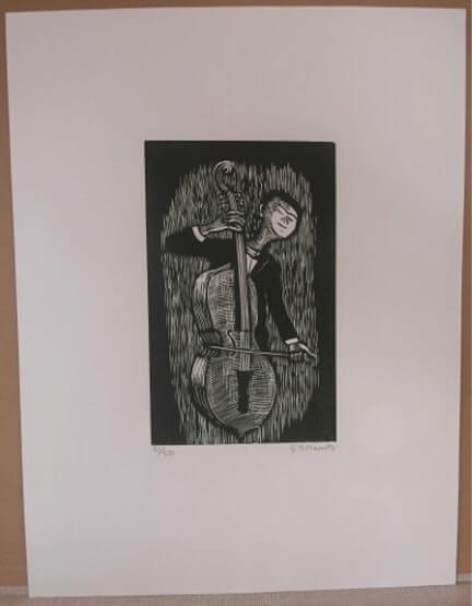 """Marcks Gerhard, """"Cellospieler"""" 1969"""