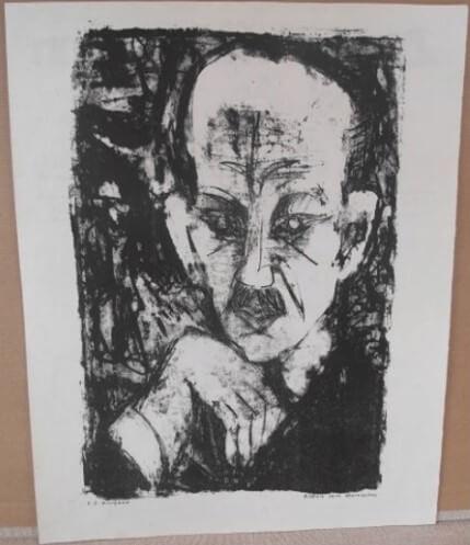 "12. Kirchner Ernst Ludwig, ""Bildnis Carl Sternheims"" 1916"