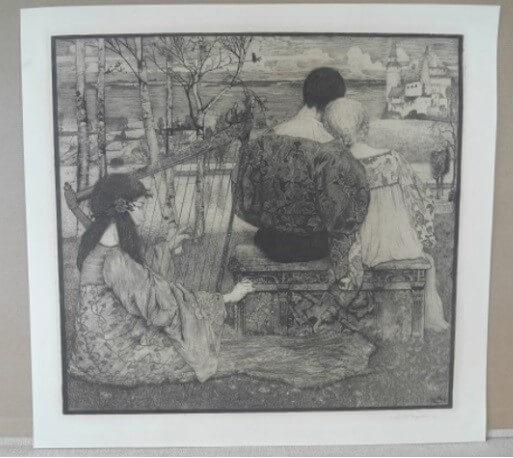 """Vogeler Heinrich, """" Liebe """" , 1896"""