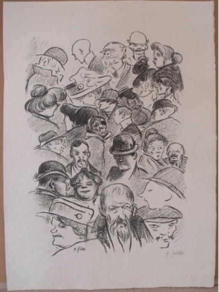 """22. Zille Heinrich, """" Berliner Typen """" 1919"""