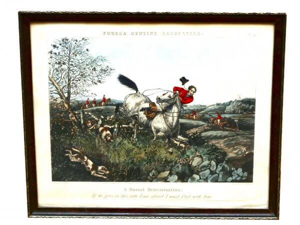 """""""Fores's Hunting Casualties""""- Szenen der englischen Jagd, Aquatinta (Tiefdruck)"""