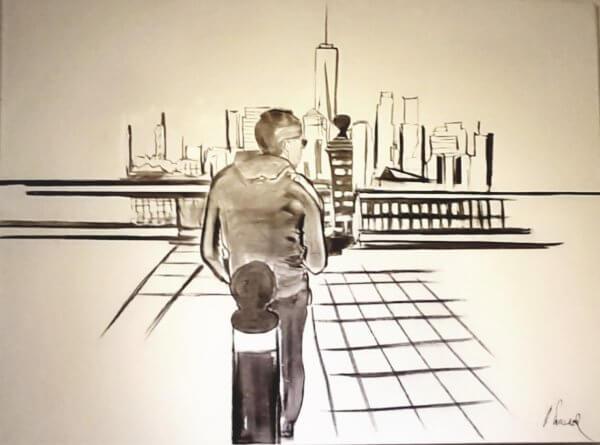 New York als Vision, in schwarz/weiß