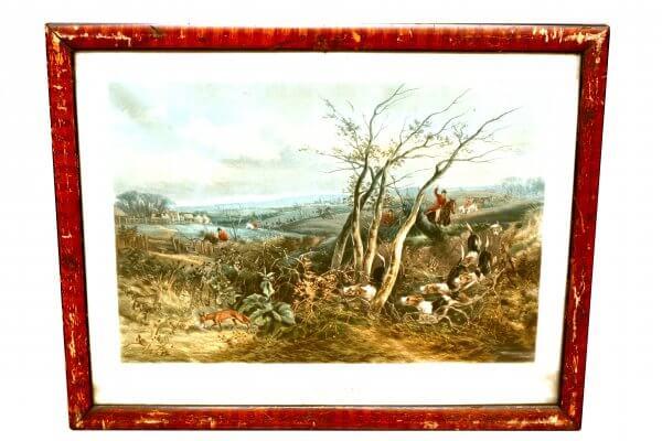"""""""Dead Beat"""" - engraved by J.Harris, Szenen der englischen Jagd, Aquatinta (Tiefdruck)"""