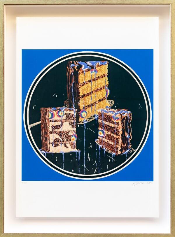 """6.) """"Torte mit Speisekugeln und Speiseblau 1966"""", original autorisiertes Werk Christian Ludwig Attersee"""