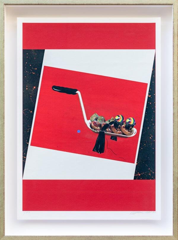 """8.) """"Speisekugeln mit Zierschleife 1966"""", original autorisiertes Werk Christian Ludwig Attersee"""