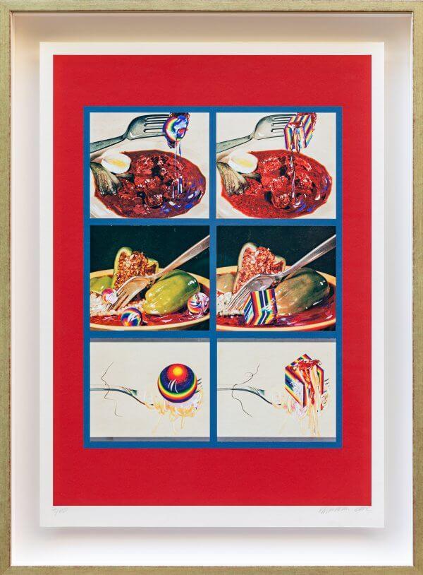 """7.) """"Schmeckt's (Speisekugeln und Speisewürfel) 1965"""", original autorisiertes Werk Christian Ludwig Attersee"""